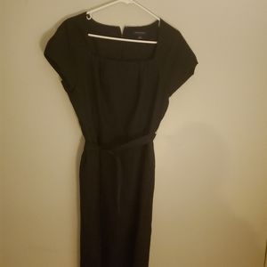 Black banana republic dress with belt